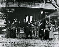 1899 Hollywood residents in front of the Sackett Hotel at Hollywood Blvd. & Cahuenga Ave.