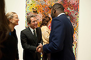 CHRIS OFILI; LORD BROWNE; ,  Chris Ofili dinner to celebrate the opening of his exhibition. Tate. London. 25 January 2010