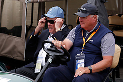 June 12, 2019 - Pebble Beach, CA, U.S. - PEBBLE BEACH, CA - JUNE 12: Golf legend Jack Nicklaus adjust his sunglasses while riding in a golf cart during a practice round for the 2019 US Open on June 12, 2019, at Pebble Beach Golf Links in Pebble Beach, CA. (Photo by Brian Spurlock/Icon Sportswire) (Credit Image: © Brian Spurlock/Icon SMI via ZUMA Press)