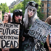School children have gone on school strike and march in protest against the governments in-action on climate change, May 24th 2019, Central London, United Kingdom. The protest is part of a global protest inspired by the Swedish climate activist Greta Thundberg who went on strike for the climate. The protest was energetic and peaceful.