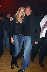 SEB & HEIDI BISHOP she was model Heidi Wichlinski at the Myla Debutantes Coming-Out show held at The Porchester Hall, Porchester Road, London on 31st January 2006.<br /><br />NON EXCLUSIVE - WORLD RIGHTS