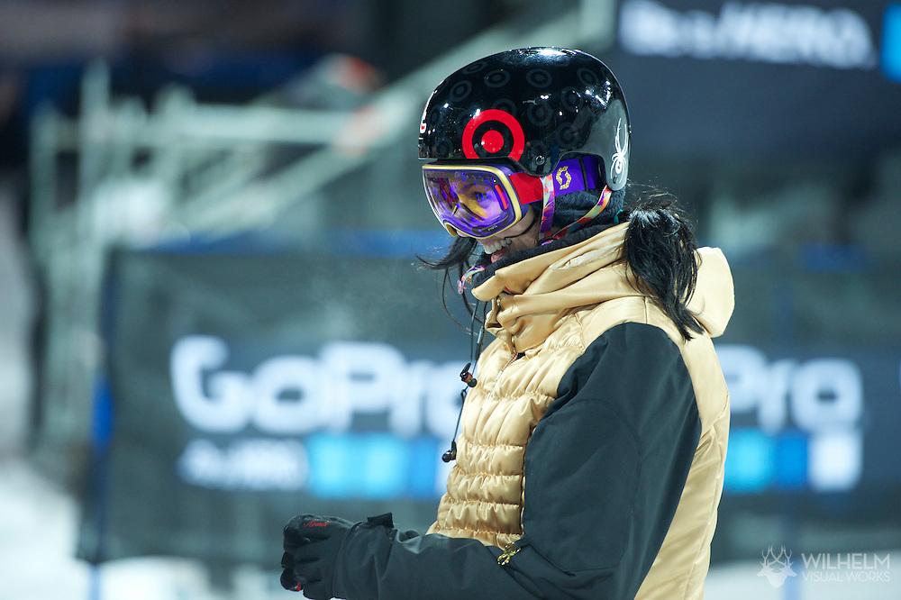Roz Groenewoud during Women's Ski SuperPipe Practice at the 2013 X Games Aspen at Buttermilk Mountain in Aspen, CO.  Brett Wilhelm/ESPN