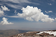 Awesome cloud formations looking north from Mulhacen summit