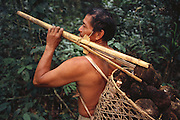 Ese'eja Indian 'Castañera' /Brazil Nut Collector<br />