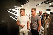 CALVIN KLEIN; NICHOLAS GRUBER; GEORGE HAMILTON; CASSANDRA CAVA, Opening of Art Basel Miami Beach. Convention Centre.  Miami Beach. 30 November 2010. -DO NOT ARCHIVE-© Copyright Photograph by Dafydd Jones. 248 Clapham Rd. London SW9 0PZ. Tel 0207 820 0771. www.dafjones.com.