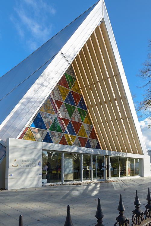 Exterior of Cardboard Cathedral, Christchurch