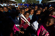 The Queen's Baton took part in visits to two schools and a university in the Central District on 3 May, 2017. This Queen's Baton Relay will visit all 70 nations and territories of the Commonwealth, over 388 days and cover 230,000km. It will be the longest Relay in Commonwealth Games history, finishing at the Opening Ceremony on the Gold Coast on 4th April 2018. Photograph shows pupils at Mmashoro Primary School with the Baton.