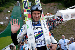 Primoz Peterka of Slovenia during Ski Jumping Summer Continental Cup in Kranj and last jump of Primoz Peterka's career, one of the best ski jumpers in history, on July 2, 2011, in Kranj, Slovenia. (Photo by Vid Ponikvar / Sportida)