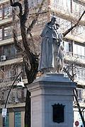 Statue of Triso de Molina (a Spanish Baroque dramatist, poet and Roman Catholic monk) at Plaza de Triso de Molina, Madrid, Spain.