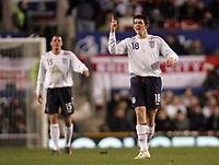 Photo: Paul Thomas.<br /> England v Spain. International Friendly. 07/02/2007.<br /> <br /> Joey Barton of England yells out instructions.