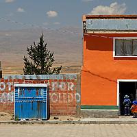 South America, Bolivia, Calamarca. Bolivian locals of Calamarca.