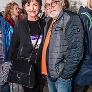 NLD/Rotterdam/20170319 - inloop De Marathon de Musical, Martine van Os en partner Wouter Stips
