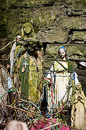 Artifacts left at St. Brigid's Well, Liscannor, County Clare, Ireland. on Monday, July 2, 2007. (Photo/John Froschauer)