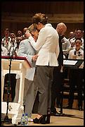 SANDI TOKSVIG;; DEBBIE TOKSVIG; , Sandi  and Debbie Toksvig,  renewing their civil partnership vows at the Royal Festival Hall. London. 29 March 2014.