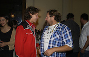 Vito and Julian Schnabel. Book launch party for 'Strangeland' by Tracey Emin.  33 Portland Place. London. 21 October 2005. ONE TIME USE ONLY - DO NOT ARCHIVE © Copyright Photograph by Dafydd Jones 66 Stockwell Park Rd. London SW9 0DA Tel 020 7733 0108 www.dafjones.com