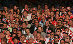 Fans of Austria during the UEFA EURO 2008 Group B soccer match between Austria and Croatia at Ernst-Happel Stadium, on June 8,2008, in Vienna, Austria.  (Photo by Vid Ponikvar / Sportal Images)