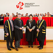 04.11.2016                  <br /> Speaking at conferring ceremonies in Limerick, the President of LIT has welcomed the publication of the Financial Review of the Institutes of Technology and called for the immediate implementation of actions to support the Technological Education sector.<br /> <br /> BSc in Construction in Health and Safety graduate, David Byrne receives the PJ Hegarty and Sons Award for excellence in from Maria Kyne, LIT, in the presence of Prof. Vincent Cunnane President LIT and Mr. Niall Greene, Chairman. Picture: Alan Place