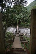 Swinging bridge, Waihee River, Maui, Hawaii<br />