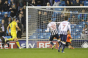 Millwall forward Harry Smith (30) scoring Millwall's fourth goal during the EFL Sky Bet League 1 match between Millwall and Bristol Rovers at The Den, London, England on 12 November 2016. Photo by Matthew Redman.
