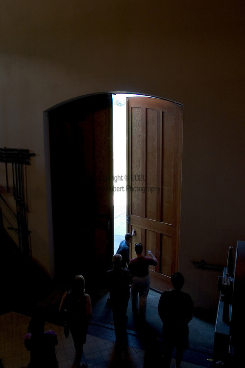 """The """"Chardonnay Doors"""" at the Domaine Drouhin Winery in Dundee, OR. .5/1/04"""