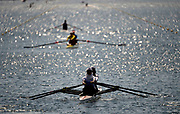 Eton Dorney, Windsor, Great Britain,<br /> <br /> 2012 London Olympic Regatta, Eton Rowing Centre, Berkshire[ Rowing].<br /> <br /> Description;  crews training session,  General views Start Area<br /> 12:40:09  Monday  23/07/2012<br />  [Mandatory Credit: Peter Spurrier/Intersport Images]