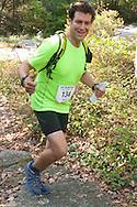 Kerhonkson, New York - Marcus Guiliano runs along the trail at Minnewaska State Park Preserve during the Shawangunk Ridge Trail Run/Hike 32-mile race  on Sept. 20, 2014.