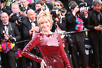 Jane Fonda at the gala screening Madagascar 3: Europe's Most Wanted at the 65th Cannes Film Festival. On Friday 18th May 2012 in Cannes Film Festival, France.