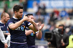 March 17, 2018 - Rome, Italy - Sean Maitland of Scotland celebrates at the end of the NatWest 6 Nations Championship match between Italy and Scotland at Stadio Olimpico, Rome, Italy on 17 March 2018. (Credit Image: © Giuseppe Maffia/NurPhoto via ZUMA Press)