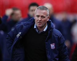 Ipswich Town manager Paul Lambert during the Sky Bet Championship match at the bet365 Stadium in Stoke.