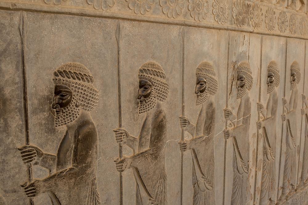 Bas-relief Figures, Apadana Staircase, Persepolis, Iran