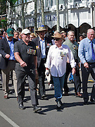 Veterans marching during Port Douglas ANZAC Day parade 2009. <br /> <br /> Editions:- Open Edition Print / Stock Image
