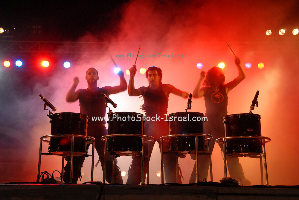 Mayumana is a multicultural troupe, established in 1996 in Tel Aviv, which developed a unique language based on skills, rhythm, visual effects and, above all - creativity  and humor.