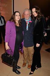 Left to right, PALOMA BAILEY, DAVID BAILEY and CATHERINE BAILEY at a private view of photographs by David Bailey entitled 'Bailey's Stardust' at the National Portrait Gallery, St.Martin's Place, London on 3rd February 2014.