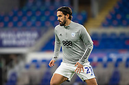 Cardiff City's Marlon Pack (21) during the pre-match warm-up at the EFL Sky Bet Championship match between Cardiff City and Barnsley at the Cardiff City Stadium, Cardiff, Wales on 3 November 2020.