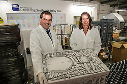 Pictured: Dr Catherine Calderwood and Mark McDonald<br /> Minister for Childcare and Early Years, Mark McDonald, was joined by Scotland's chief medical officer, Dr Catherine Calderwood, when he visited the Baby Box distribution centre in Edinburgh ahead of the nationwide roll-out.<br /> Ger Harley   EEm 14 August  2017