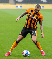 Hull City's Josh Magennis<br /> <br /> Photographer Alex Dodd/CameraSport<br /> <br /> The EFL Sky Bet League One - Hull City v Peterborough United - Saturday 24 October 2020 - KCOM Stadium - Kingston upon Hull<br /> <br /> World Copyright © 2020 CameraSport. All rights reserved. 43 Linden Ave. Countesthorpe. Leicester. England. LE8 5PG - Tel: +44 (0) 116 277 4147 - admin@camerasport.com - www.camerasport.com