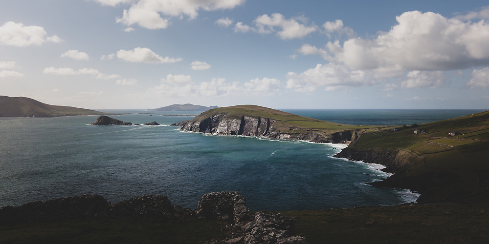 The sweeping and rugged landscape at Slea Head in southwest Ireland.