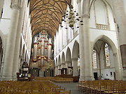 interior of Saint Bavo church in Haarlem Holland