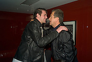 HARRY SOAMES AND MARIO TESTINO, The Wonderland and Moet party. The Red Bar. Grosvenor House Hotel. Park Lane, London. 18 April 2008 *** Local Caption *** -DO NOT ARCHIVE-© Copyright Photograph by Dafydd Jones. 248 Clapham Rd. London SW9 0PZ. Tel 0207 820 0771. www.dafjones.com.