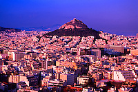 Overview from Athens with Mt. Lycabettus in back, Greece