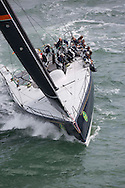 The 2013 Rolex Fastnet race start. Cowes. UK<br /> <br /> Pictures of the 72ft Mini Maxis Bella Mente skippered by Hap Fauth (USA) . Shown here as they race down the Solent <br /> Credit: Lloyd Images