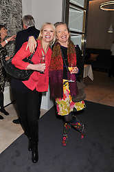 Left to right, ANNEKA RICE and VANESSA BRANSON at a party to celebrate the publication of Mum's The Word by Eve Branson held at Grace, West Halkin Street, London on 11th March 2013.