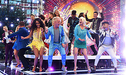 Alex Scott, Jamie Laing, Anneka Rice and Karim Zeroual attending the Strictly Come Dancing Launch at the TV Centre, London