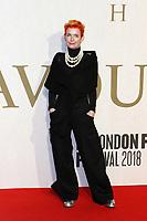Sandy Powell, The Favourite - UK Premiere, BFI London Film Festival, BFI Southbank, London, UK, 18 October 2018, Photo by Richard Goldschmidt