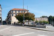 Urban cityscape at Praca dos Poveiros, Porto, Portugal