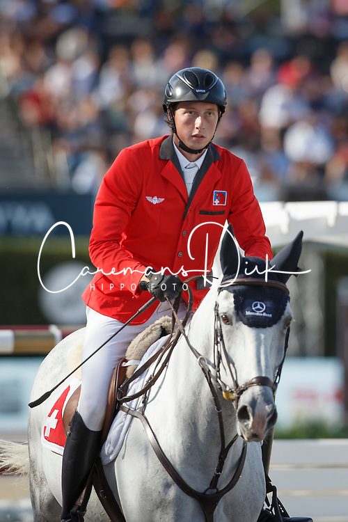 Fuchs Martin, (SUI), Clooney <br /> First Round<br /> Furusiyya FEI Nations Cup Jumping Final - Barcelona 2015<br /> © Dirk Caremans<br /> 24/09/15