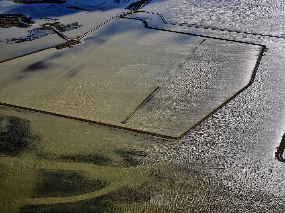 Nederland, Noord-Brabant, Drimmelen, 25-02-2020; Brabantse Biesbosch, zicht Polder Noordwaard. De Noordwaard Polder dient als overloopgebied bij hoogwater.<br /> Brabantse Biesbosch, view of Polder Noordwaard, with Boomgat and Kooigat. The Noordwaard Polder serves as an overflow area at high water.<br /> luchtfoto (toeslag op standard tarieven);<br /> aerial photo (additional fee required)<br /> copyright © 2020 foto/photo Siebe Swart