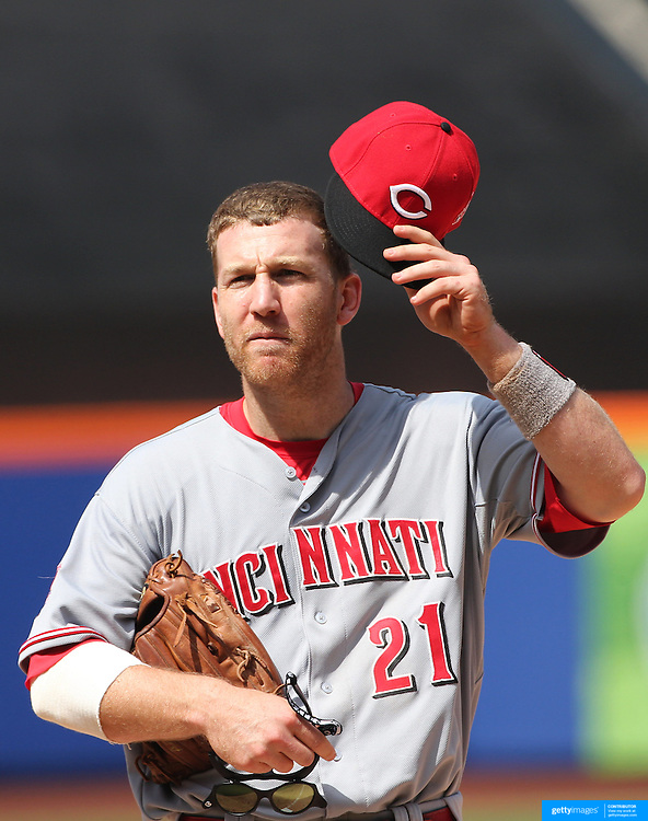 Todd Frazier, Cincinnati Reds,  during the New York Mets Vs Cincinnati Reds MLB regular season baseball game at Citi Field, Queens, New York. USA. 28th June 2015. Photo Tim Clayton