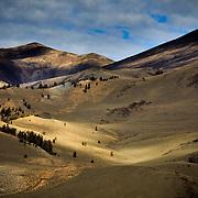 White Mountain Ridgelines at Sunset near Bishop, California.
