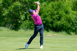 May 12, 2019 - Dallas, TX, U.S. - DALLAS, TX - MAY 12: Brooks Koepka hits his approach shot to #7 during the final round of the AT&T Byron Nelson on May 12, 2019 at Trinity Forest Golf Club in Dallas, TX. (Photo by Andrew Dieb/Icon Sportswire) (Credit Image: © Andrew Dieb/Icon SMI via ZUMA Press)